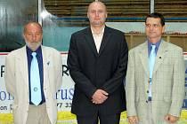 Předseda HC Břeclav Petr Blaho (vlevo).