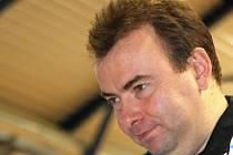 Trenér břeclavských stolních tenistek Petr Nedoma.