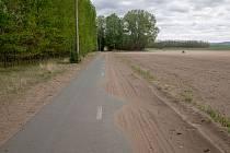 Pole v blízkosti Březí na Mikulovsku
