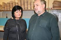 Herci Jaroslava Obermaierová a Václav Svoboda navštívili pekárnu ve Velkých Pavlovicích..