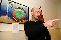 Ředitel Základní školy v Pohořelicích Stanislav Polák se poprvé představil veřejnosti coby talentovaný malíř.
