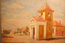Výstava akvarelů Karla Božka v břeclavské synagoze.