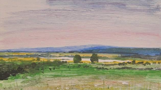 Obrazy slovenského výtvatrníka Šimy-Juričky vystavují v Hustopečích.