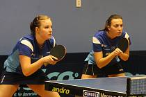 Stolní tenistky MSK Břeclav. Ilustrační foto.