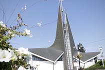 Dominantou centra Břeclavi je kostel svatého Václava.