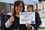 Demonstrace Vy ještě nemáte dost?!, kterou pořádal spolek Milion chvilek pro demokracii, se na náměstí T.G. Masaryka v Břeclavi zúčastnily desítky lidí.