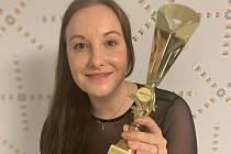 Stolní tenistka Karin Adámková se stala sympaťačkou okresu Břeclav za uplynulý rok. Foto: archiv Karin Adámkové