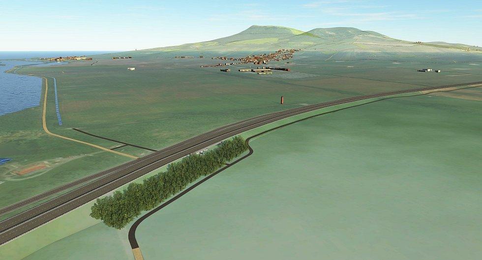Plánovaná estakáda přes Nové Mlýny.