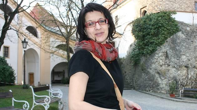 Jana Frantelová z Regionálního muzea Mikulov má na starosti výtvarnou dílnu a propagaci.
