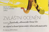 Dětský folklorní soubor Jatelinka si přivezl z celostátní přehlídky v Jihlavě zvláštní ocenění