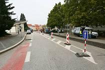 Opravy silnice I/55.  Ilustrační foto