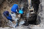 Obyvatele Velkých Bílovic a Moravského Žižkova potrápilo prasklé potrubí.