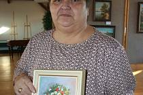 Jitka Mazánková z Pohořelic vystavuje v galerii Městského úřadu ve Velkých Pavlovicích svoje obrazy.
