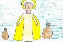 Nakreslit Ježíška. Tak zněl úkol pro děti ze Základní školy Komenského v Hustopečích. Takto si jej představuje Johana Kosíková.