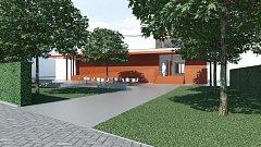 Současná studie plánovaného multikulturního centra v Hustopečích.