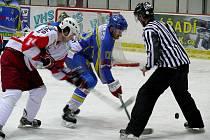 2. liga, východ: HC Břeclav (v modrém) vs. Slezan Opava
