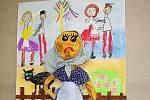 Ukázka prací školáků pro soutěž Malovaná říkadla.