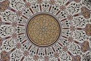 Zrestaurované historické stropní malby a opravené podlahy v minaretu u Lednice.