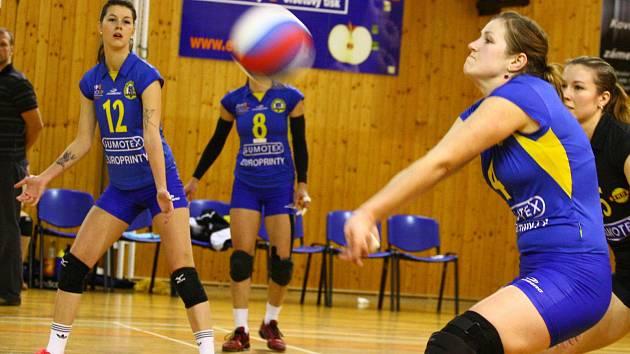 Břeclavské volejbalistky už mohou prvoligovou sezonu dohrát v klidu.