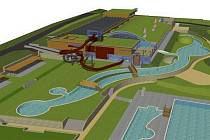 Vizualizace nového akvaparku v Pasohlávkách