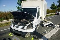Dopravní nehoda u Dolních Dunajovic.