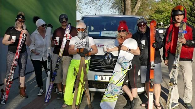 Letošní lyžařskou sezónu ovlivnila pandemie covidu. Recesisté z Břeclavi si lyžování i přesto neodpustili.