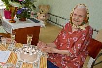Matylda Künstlerová z Břeclavi oslavila v těchto dnech 100. narozeniny.