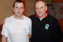 Předseda Amatérského tenisového sdružení Břeclav Zdeněk Průša (vpravo).