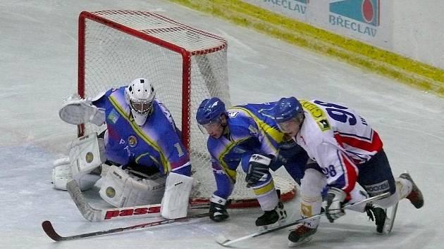 2. liga, východ: Břeclav (v modrém) vs. Gedos Nový Jičín