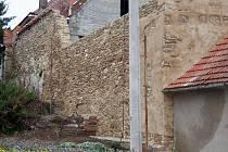Dům Zdeňky Pohankové z Valtic je obehnaný několikametrovými zdmi starého městského opevnění. Kulturní památka už hrozila sesuvem. Naposledy letos v červnu spadla část opevnění k Pohankům na zahradu.