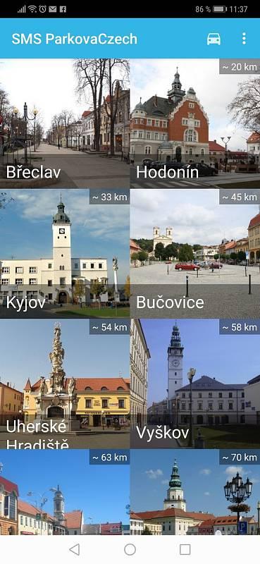 Aplikace SMS ParkovaCzech.