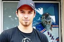 Hokejový brankář Maxmilian Bača je novou posilou břeclavských Lvů.