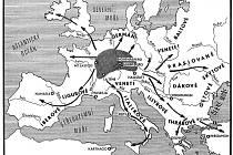 Směry keltské expanze z původního území vzniku laténské kultury