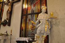 Socha svatého Víta v kostele svatého Václava a Anežky České v Hustopečích. Ilustrační foto.