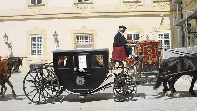 Natáčení minisérie Marie Terezie ve Valticích.