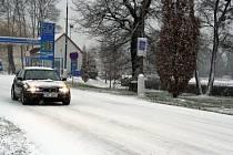 Sněhová nadílka na Břeclavsku.