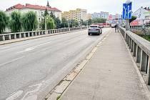 Most Julia Fučíka v centru Břeclavi. Ilustrační foto.