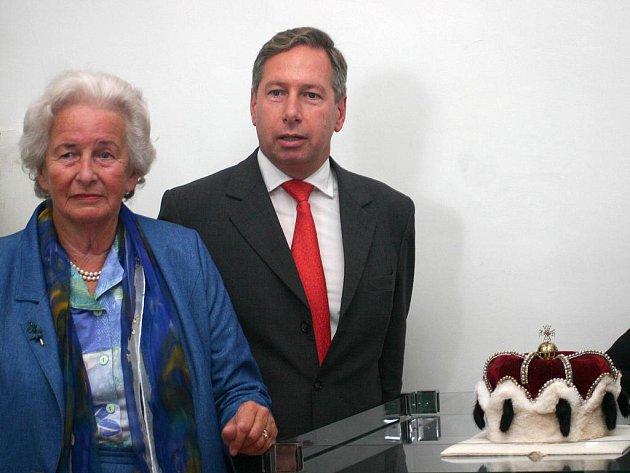 Marie Salm–Reifferscheidt spolu se svým synem.