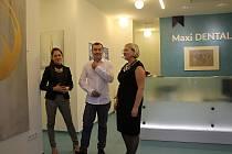Břeclavská dentální klinika se proměnila v galerii. Obrazy tam vystavuje do konce listopadu Erika Voith a Boris Jirků.