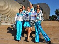 Hustopečské mažoretky dosáhly na letošním evropském šampionátu na tři zlata.