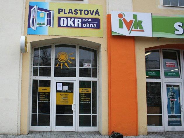 Břeclavská pobočka veselské firmy OKR okna.