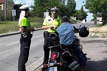 Policisté kontrolovali na Břeclavsku motorkáře.
