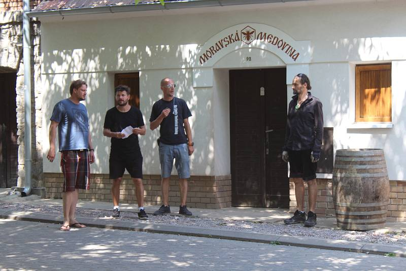 Natáčení filmu 3Bobule v Moravské Nové Vsi.