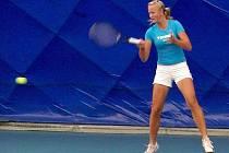 Linda Dubská při tréninku v břeclavské hale.
