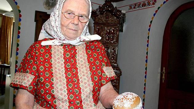 Malérečka Marie Švirgová z Lanžhota.