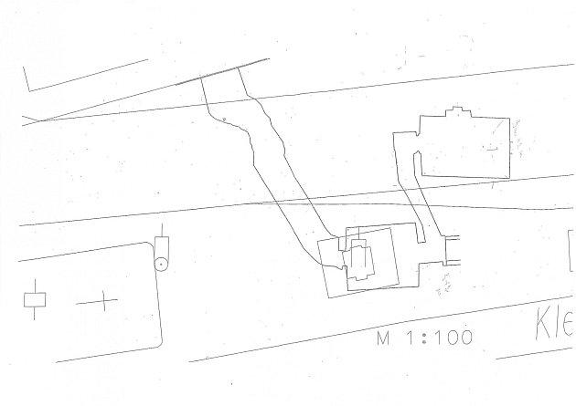 Nákres systému podzemních chodeb.