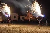 Novoroční ohňostroj ve Velkých Bílovicích
