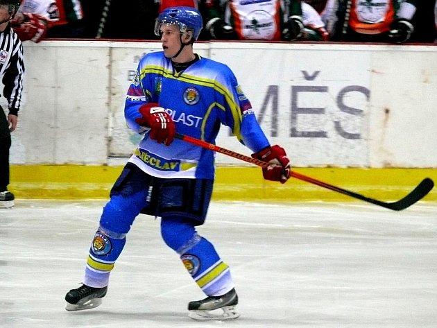 Břeclavský hokejový obránce Jiří Novák.