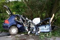 Smrtelná dopravní nehoda u Velkých Pavlovic na Břeclavsku.