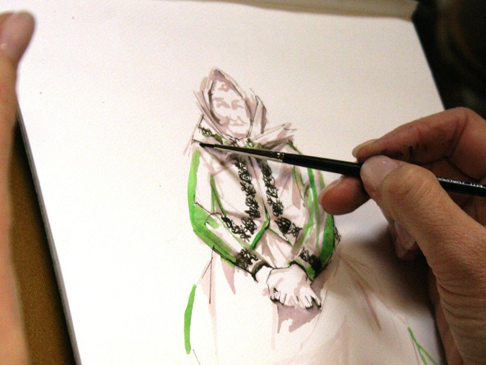 Ilustrace malířky Zuzany Osako.